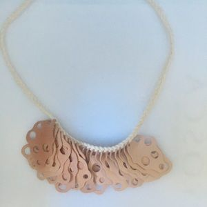 Anthropologie Laser Cut Soft Nubuck Leather